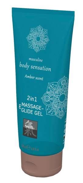 SHIATSU Massage-& Glide Gel 2in1 Amber 200ml